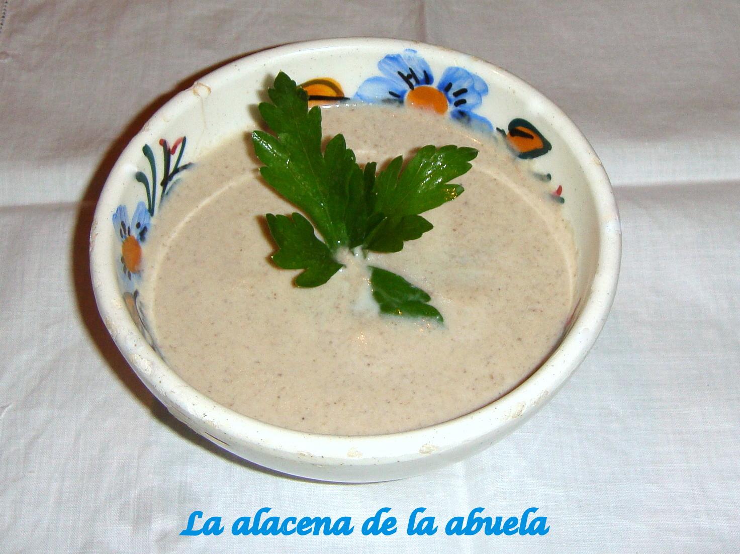 La alacena de la abuela carmen crema de champi ones for Cocina casera de la abuela