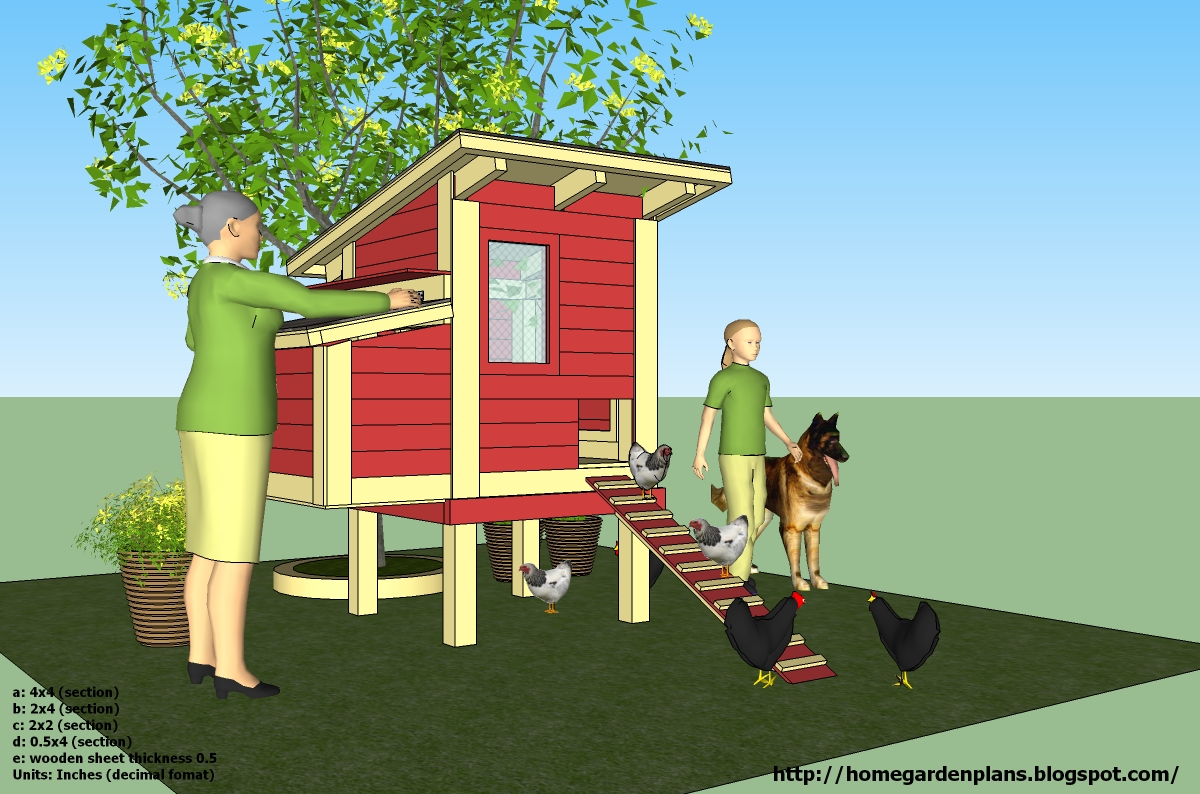 Chik tim february 2015 for Small chicken house plans