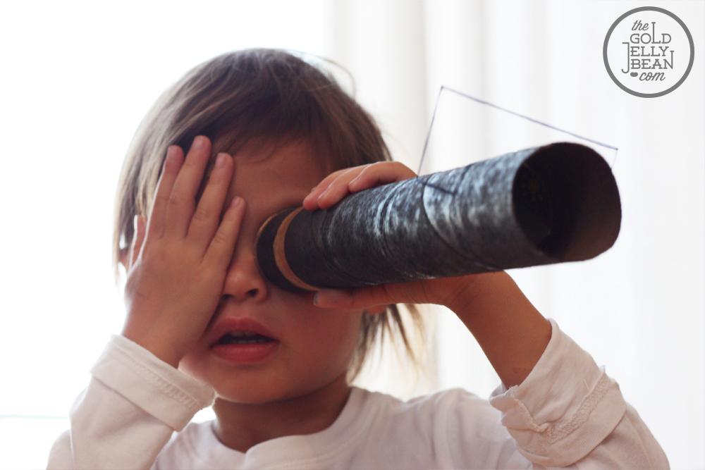 Как сделать телескоп из бумаги своими руками 70
