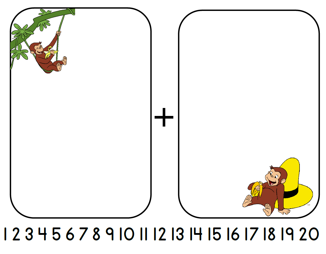 Aloha Kindergarten Curious George Addition
