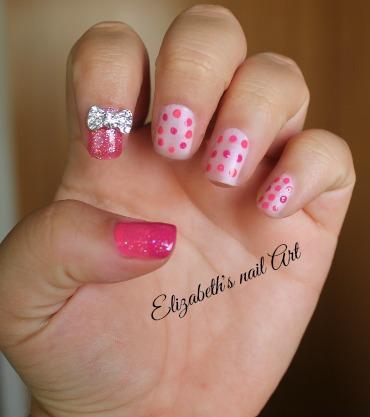 manicura en colores rosa