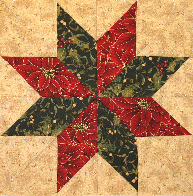 Free Quilt Pattern For 8 Point Star : Neighborhood Quilt Club: Eight Pointed Star - Quilt Block Tutorial
