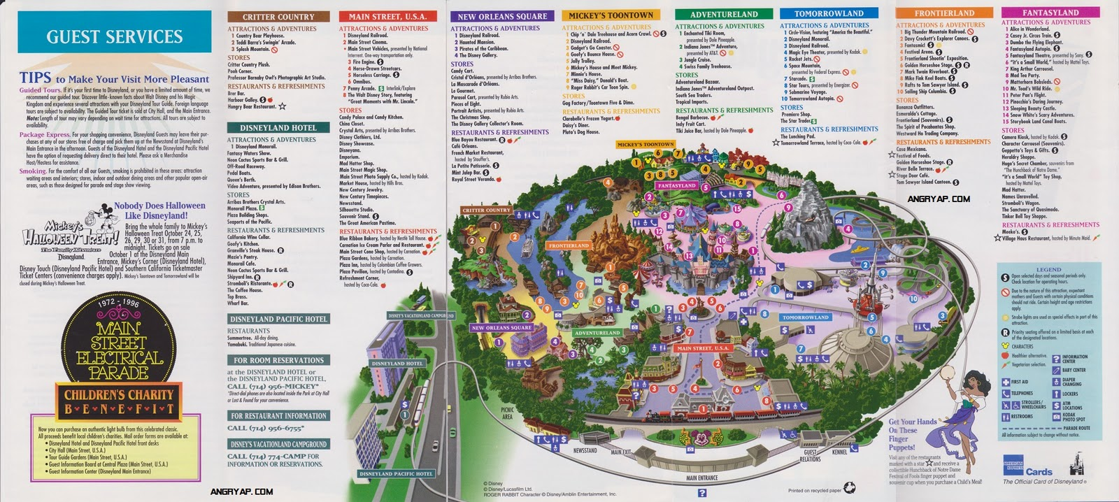 Angry ap disneyland and walt disney world nostalgia disneyland disneyland guide map from september 1996 gumiabroncs Gallery