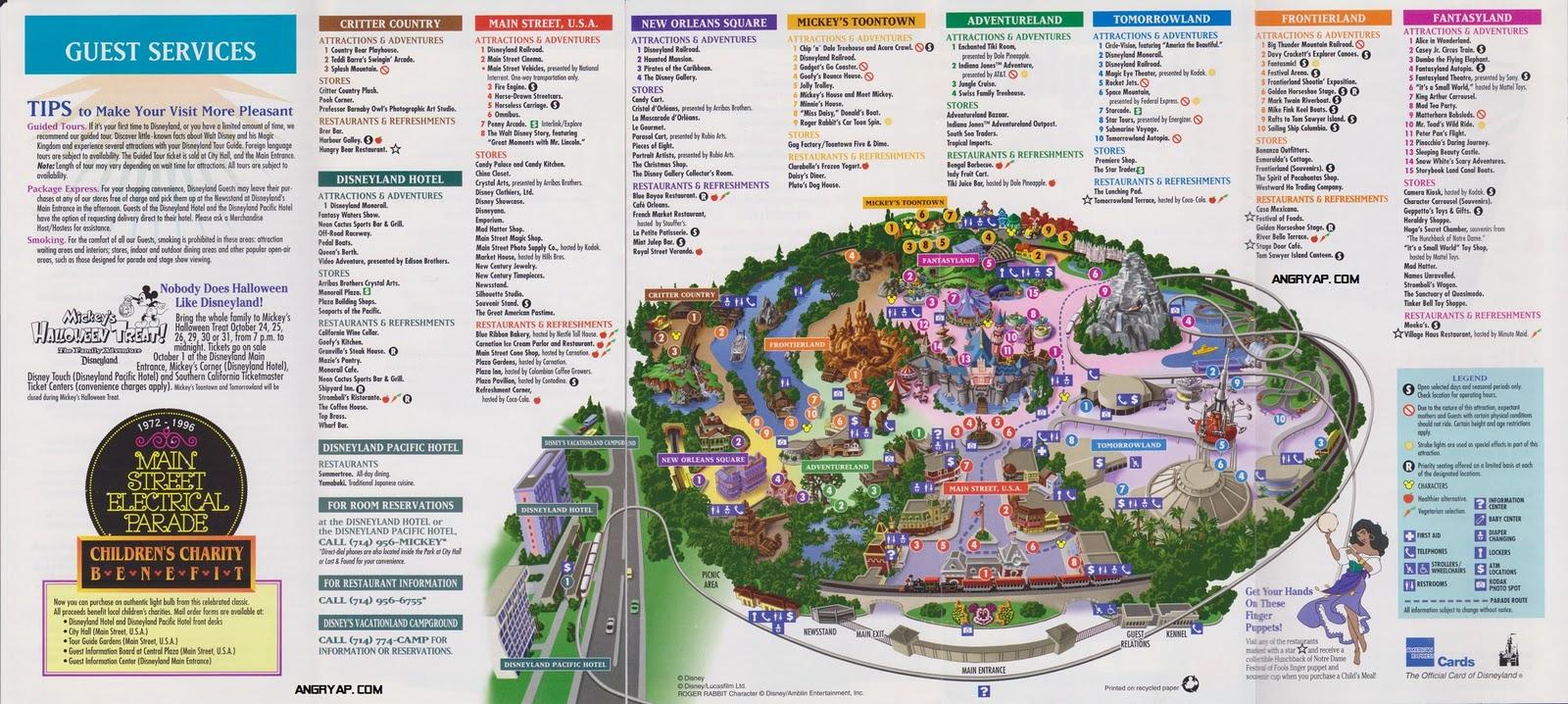 AP - Disneyland and Walt Disney World nostalgia: Disneyland Guide Map ...