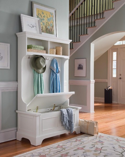 Modern Entryway Storage Furniture - Kitchen Layout and Decorating ...