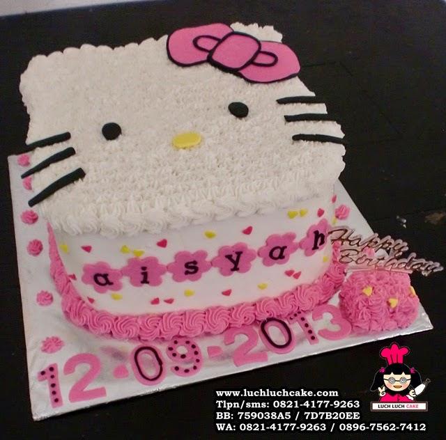 Kue Tart Hello Kitty Kepala 3D Pink Cute Daerah Surabaya - Sidoarjo