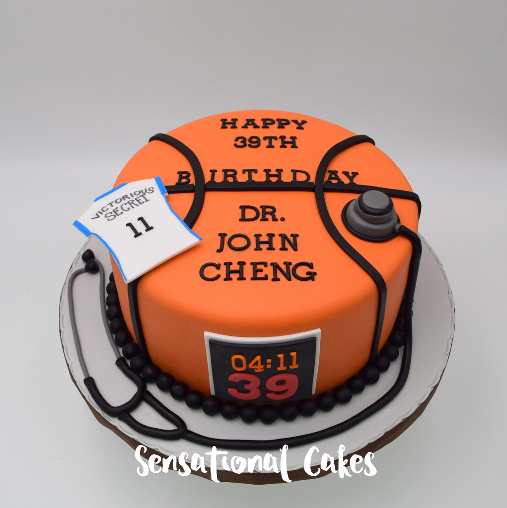 The Sensational Cakes Basketball And Medical Profession Stethoscope