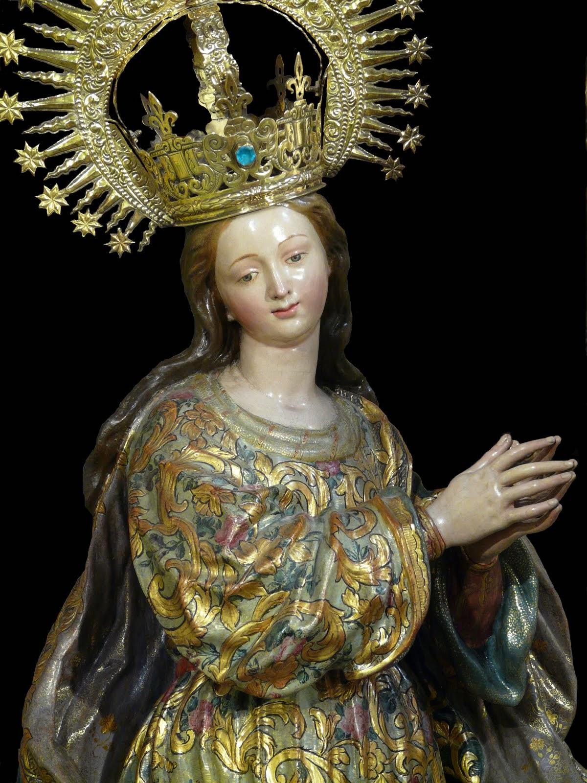 Pura y Limpia Concepción de la Santísima Virgen María.