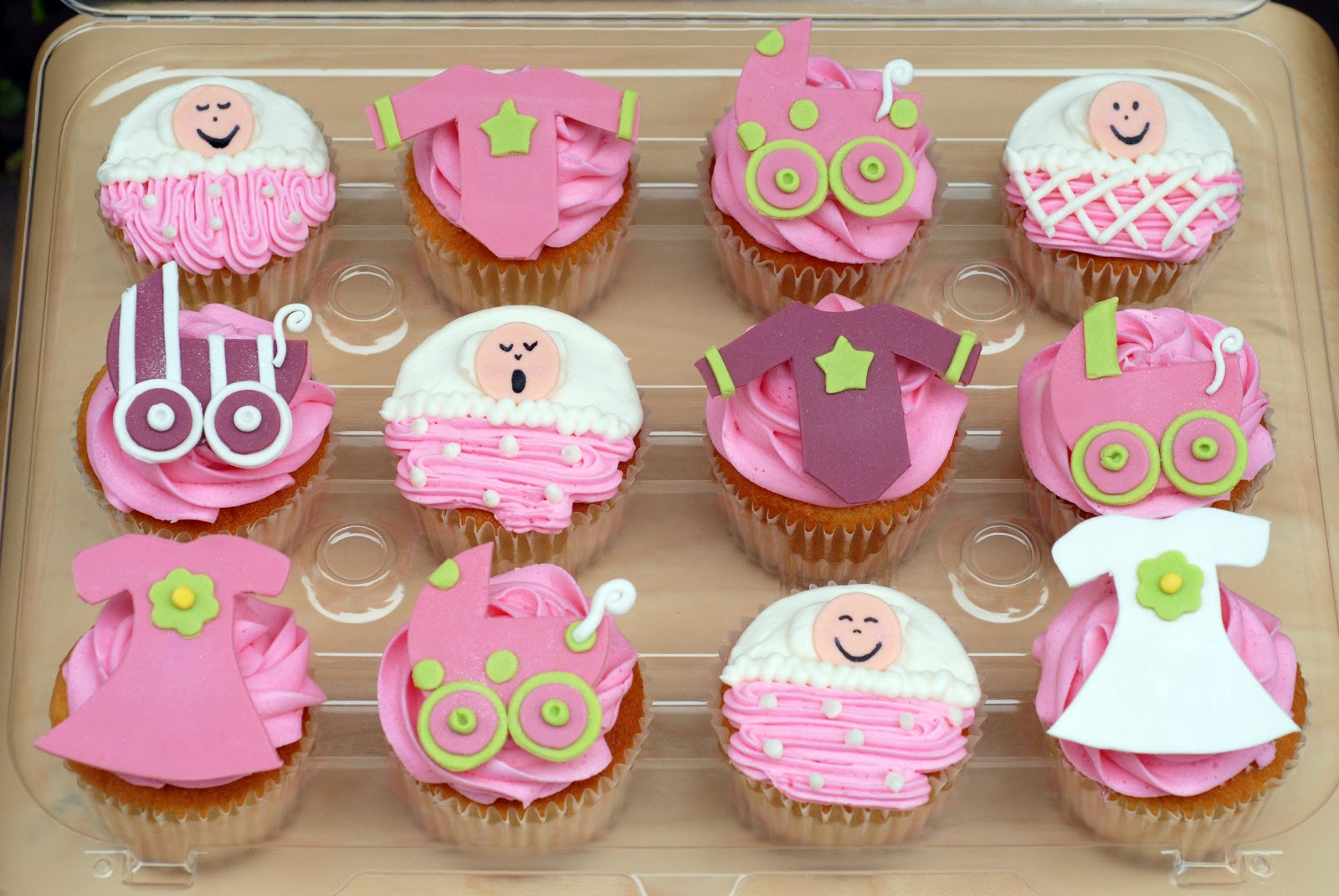 dozen mixed cupcakes look really cute all together