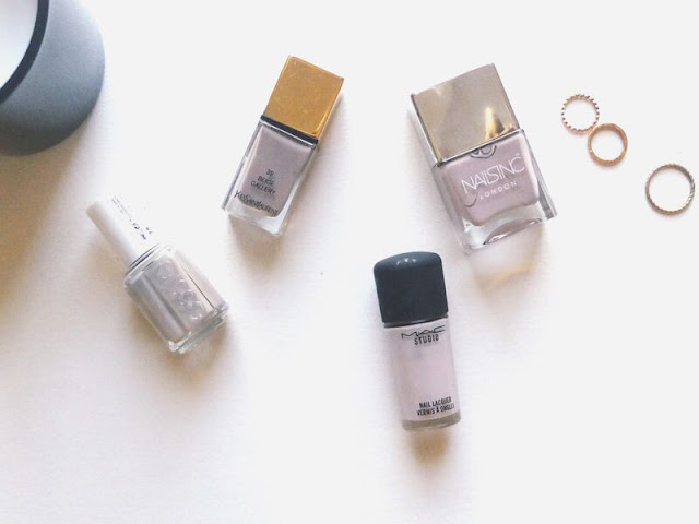 Greige, Nails, The Greige Nail Edit, Porchester Square, YSL, Essie, MAC, Nails Inc