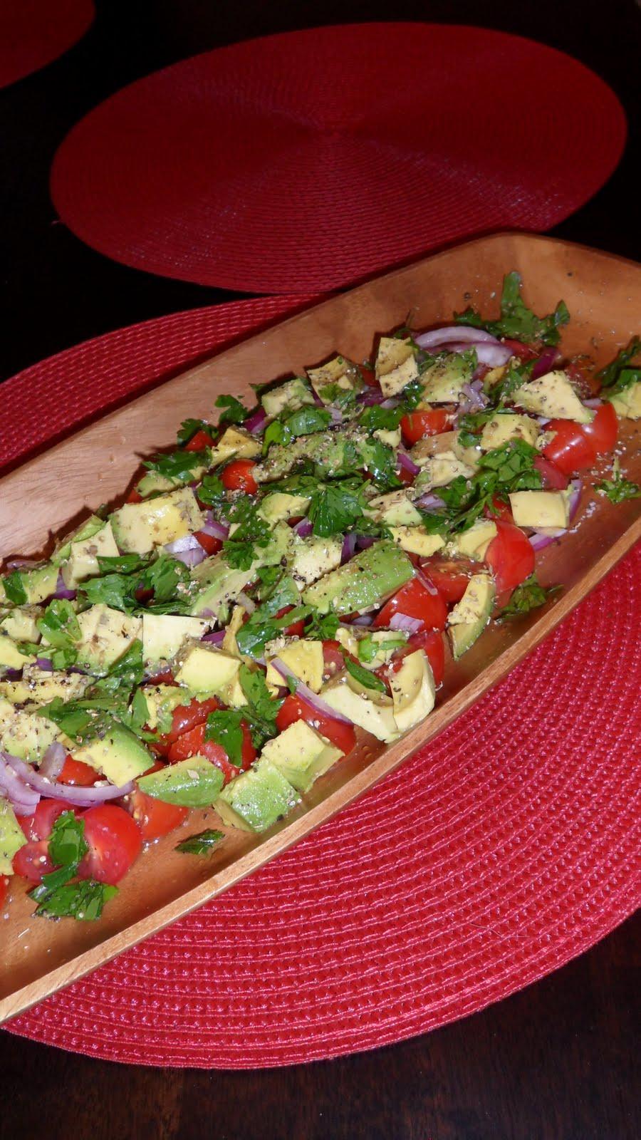 Random Acts of Food: Tomato, Onion & Avocado Salad