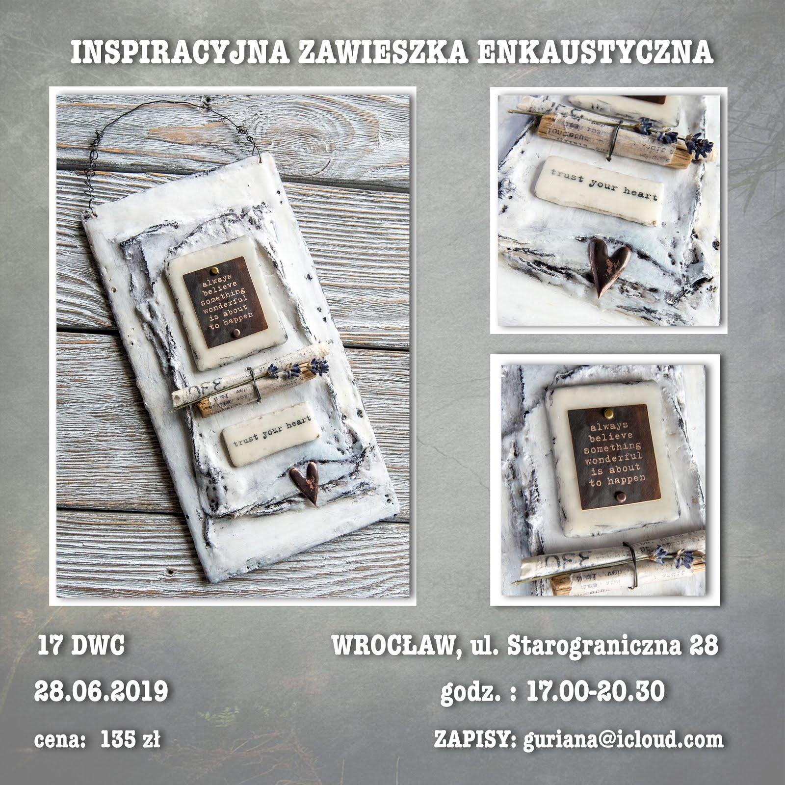 17 DWC Wrocław Enkaustyczna zawieszka inspiracyjna