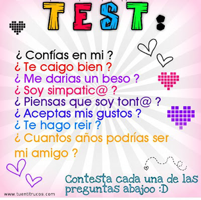 test amistad tuenti