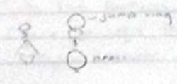 draft drawing of dangles