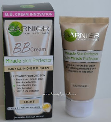 Garnier BB cream in Light review