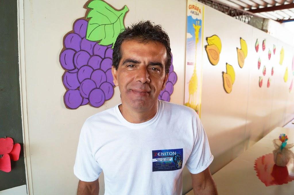 Zenilton Veloso, pai de aluno, credita a participação dos responsáveis ao empenho da equipe gestora da escola
