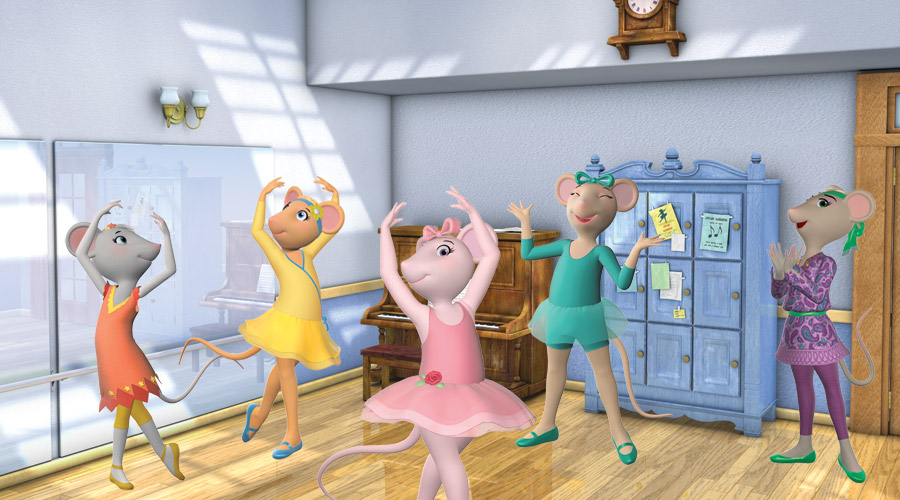Angelina Ballerina, Gracie, Marco, Miss Mimi, Polly Mouseling, Sr ...