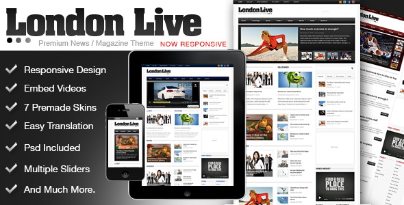 ThemeForest - London Live 3 In 1 - News, Magazine And Blog
