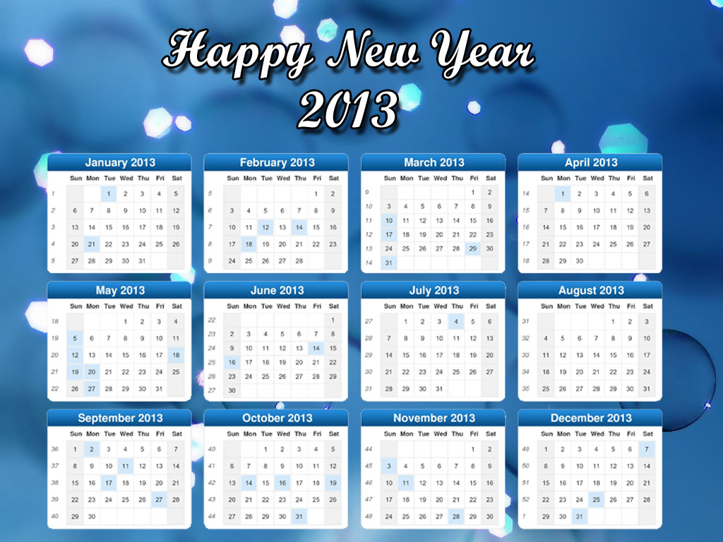 Year Calendar Desk : New year desktop calendars decorate with