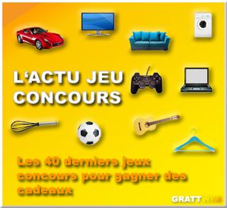 Les 40 derniers jeux concours gratuits du 27-08-2015, Instant gagnant, tirage au sort, concours créatif...