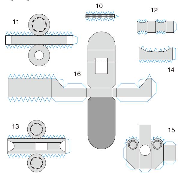 desain robot dari kertas papercraft