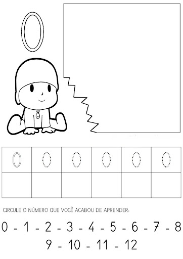 treinando os numerais de 0 a 9 espaÇo educar