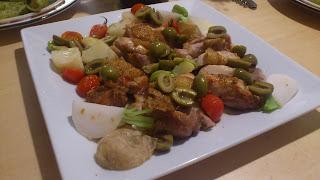 港区(恵比寿・広尾)のキッチン付きレンタルルーム:彩りのグリル野菜とグリルチキン