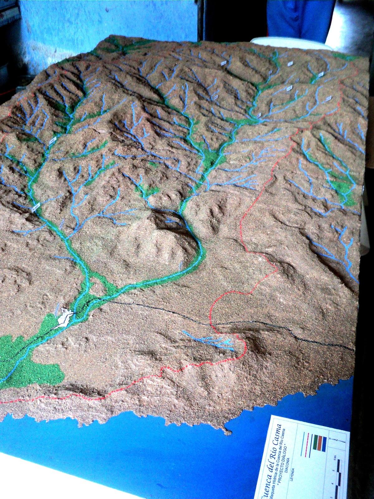 Maquetas Creativas: Maqueta Topográfica - Cuenca