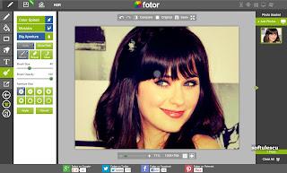 Modifică poze online cu Fotor