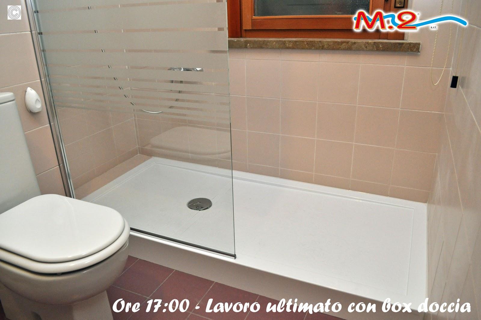 Sostituzione vasca da bagno in 3 muri con piatto doccia e anta di cristallo  M.2 Trasformazione ...
