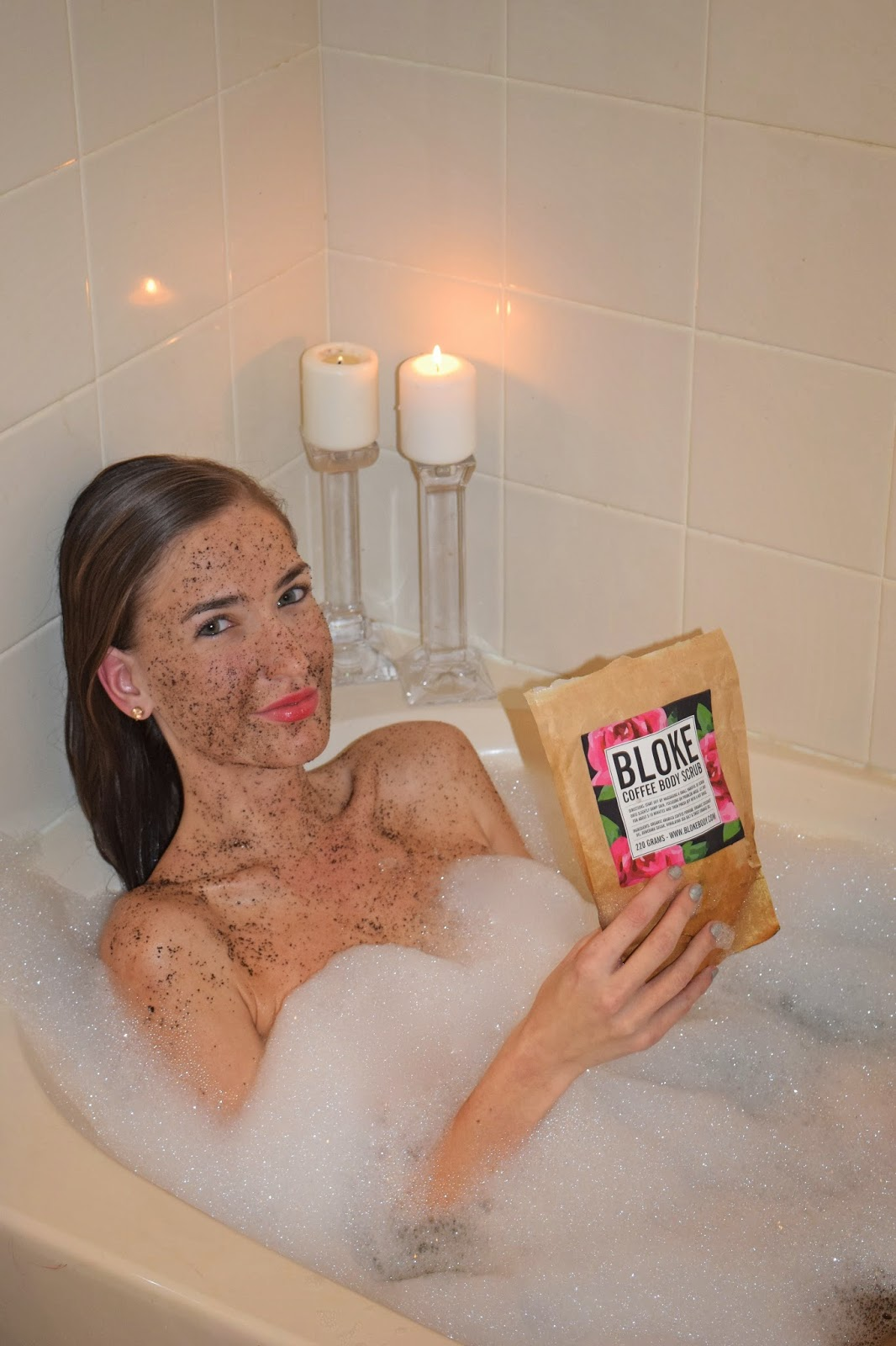 Using Bloke Coffee Body Scrub, Organic Body Scrub