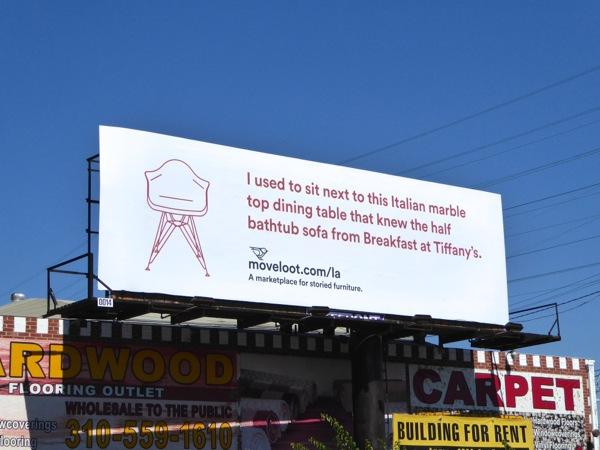 Breakfast at Tiffany's Move Loot billboard