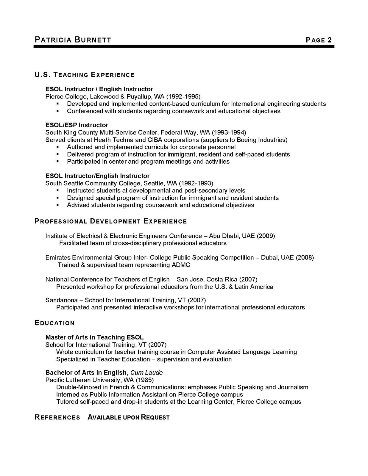 George Washington Resume Cinninger Ad Administrative Resume June  George Washington Resume