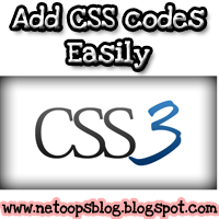 add css code easily in blogger blog
