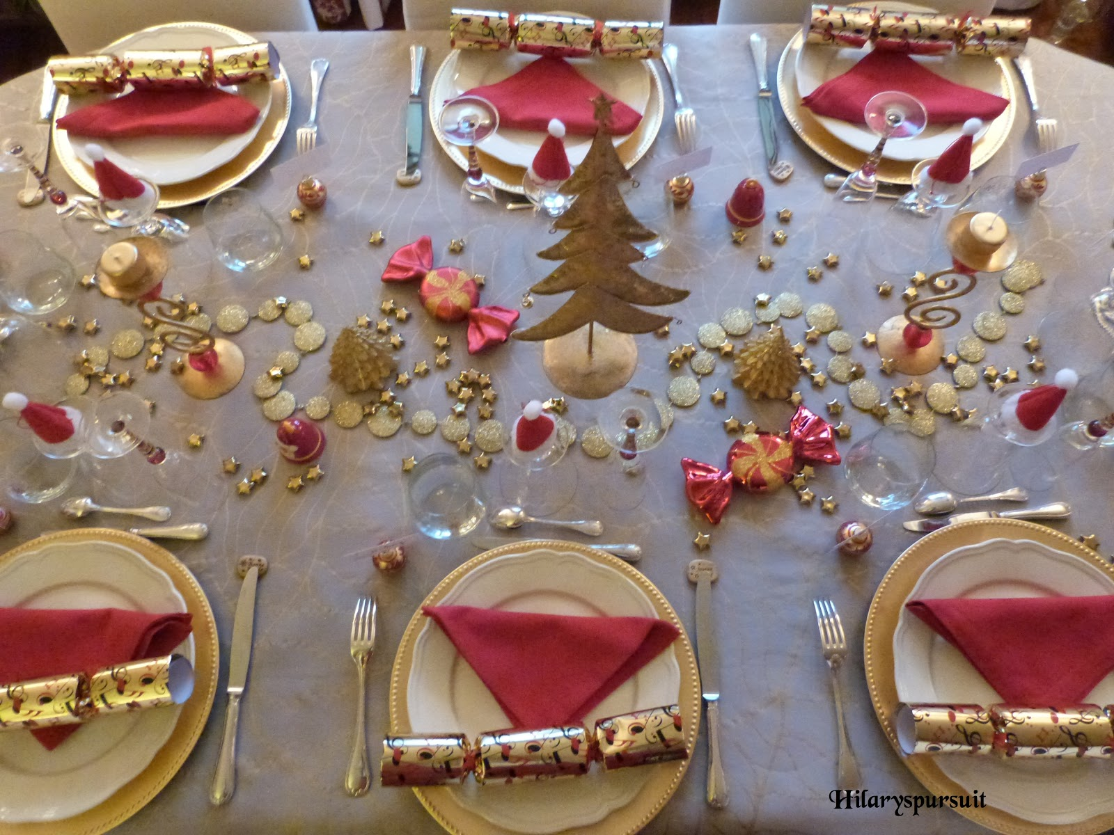 Dans la cuisine d 39 hilary sp cial f tes table de no l d for Presentation de table de noel