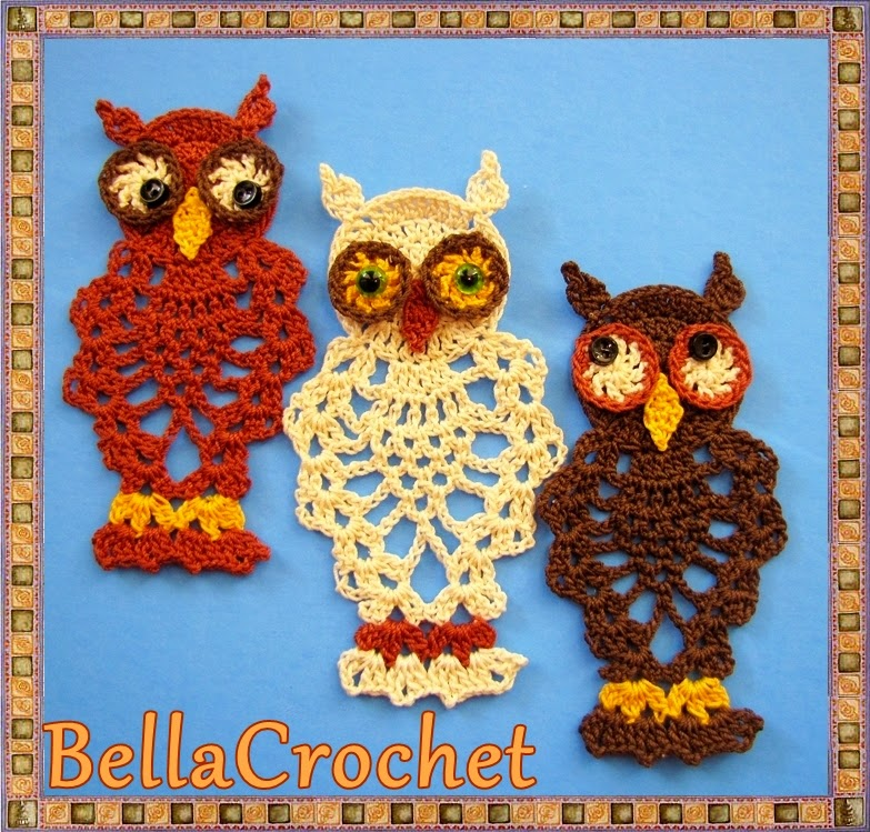 Bellacrochet Pineapple Owl Ornament Or Bookmark A Free Crochet