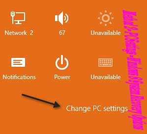 Method 2 – PC Settings --Windows 8 System Recovery Options