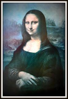 Reprodução da Mona Lisa, no Museu Municipal de Rosário do Sul.
