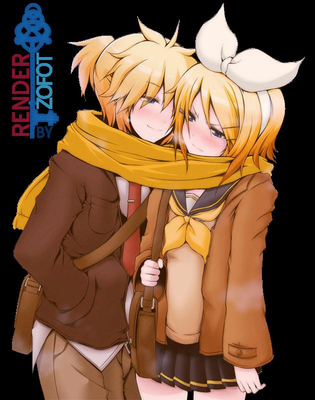 Render Rin y Len Kagamine
