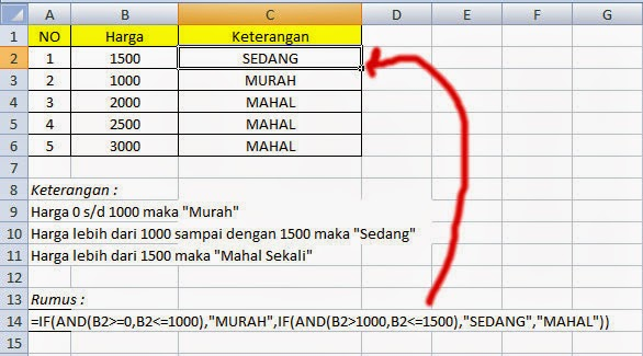 Rumus If Di Excel 2013 - tutorial lengkap fungsi rumus if