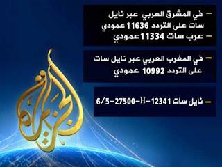 تردد قناة الجزيرة مباشر 2016 علي النايل سات المصري Aljazeera Mubasher