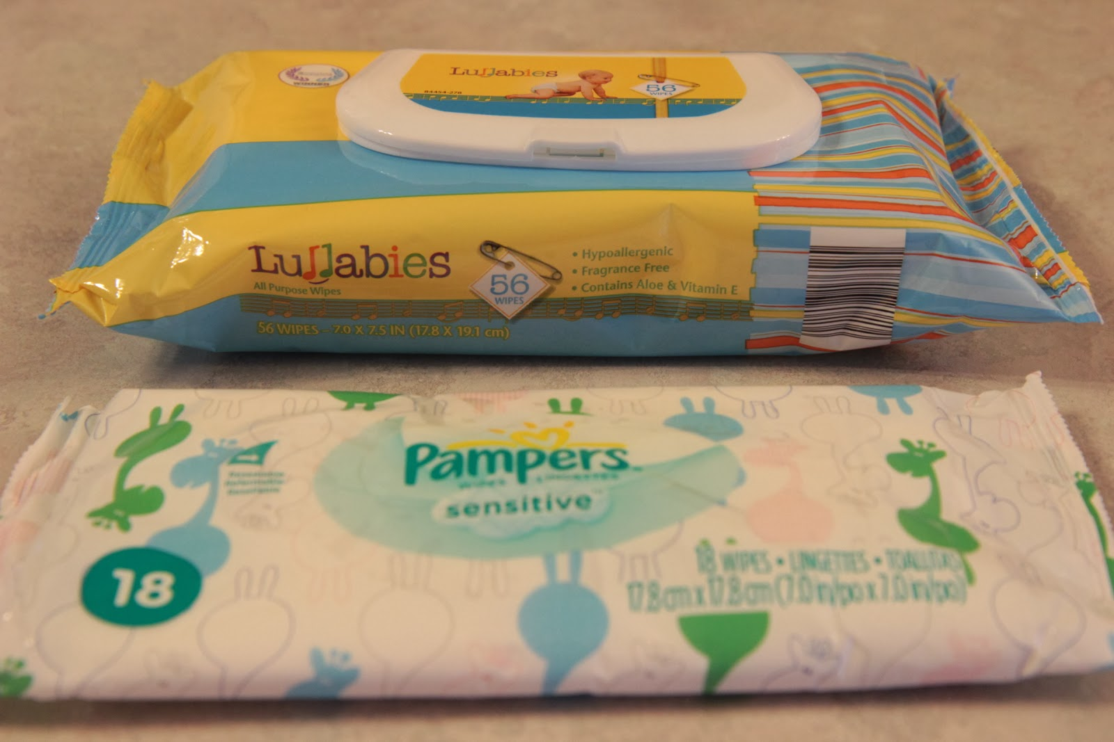 Aldi Lullabies vs Pampers Sensitive