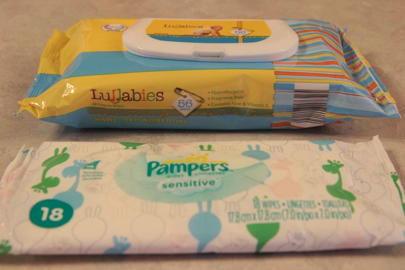 Aldi Lullabies vs Pampers Sensitive