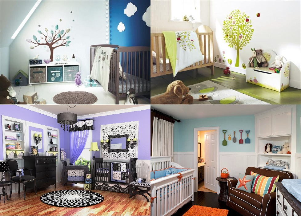Nursery decorating ideas 5 unique looks for the new baby room honey lime - Baby rooms idees ...