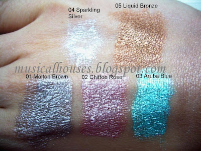 Mememe Colourama Long Lasting Cream Shadow Swatches