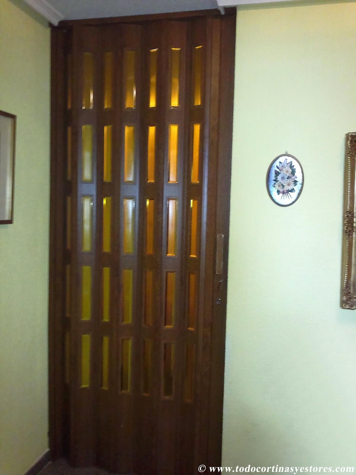 Decoracion interior cortinas verticales estores - Puertas plegables de pvc ...