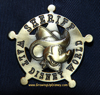 Mickey Mouse Sheriff Collector Pin, Growing Up Disney
