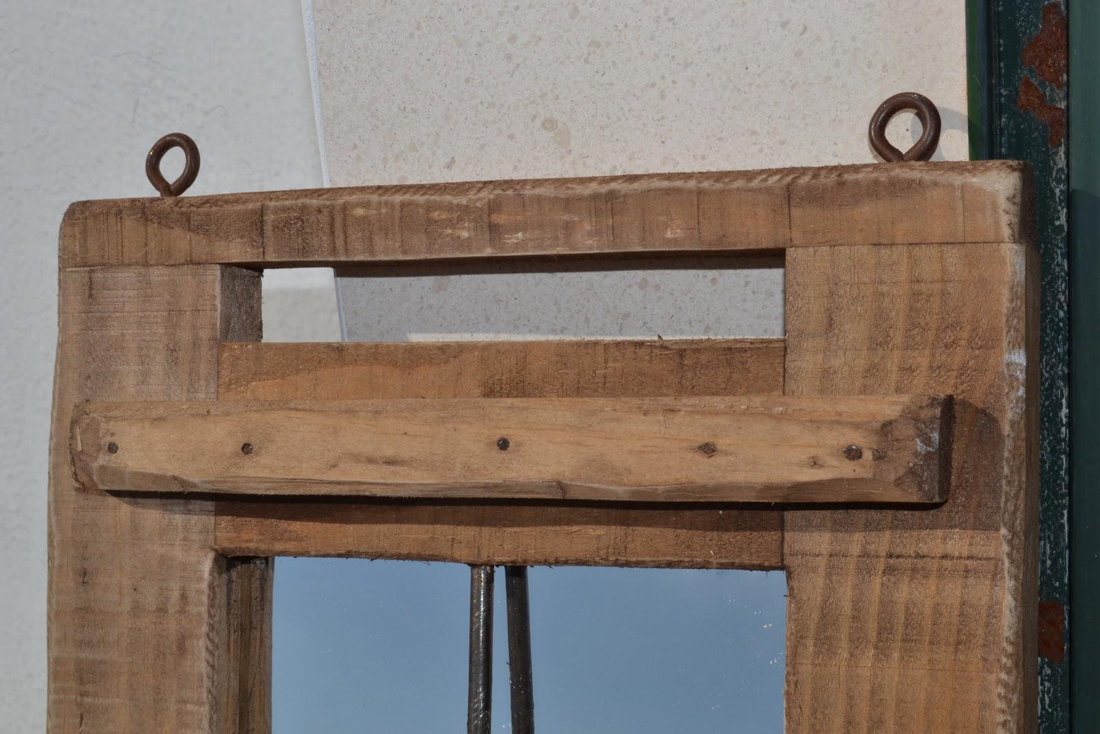Artesan a r stica en madera marco de madera con herrajes - Herrajes rusticos para puertas ...