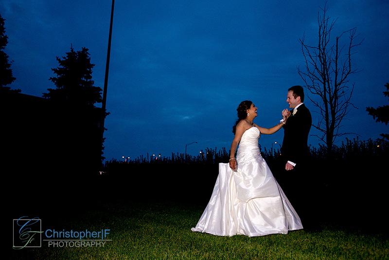 Chicago Night Wedding Photo