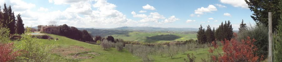 Panorama sulle nostre colline toscane dall&#39;Agriturismo Vaianino